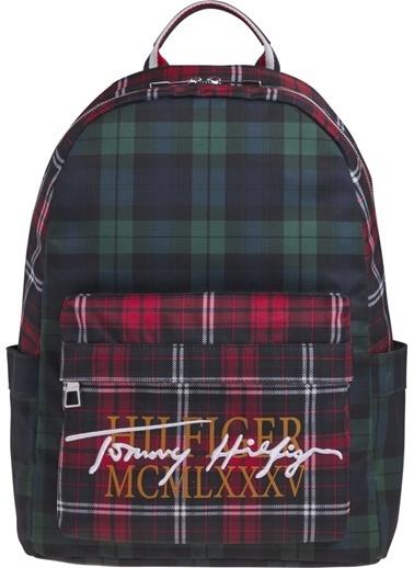 Tommy Hilfiger Erkek Th Signature Backpack Sırt Çantası AM0AM06767 Renkli
